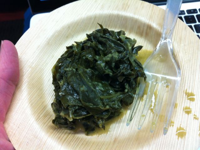 Root Cafe's Coconut Curry Collard Greens