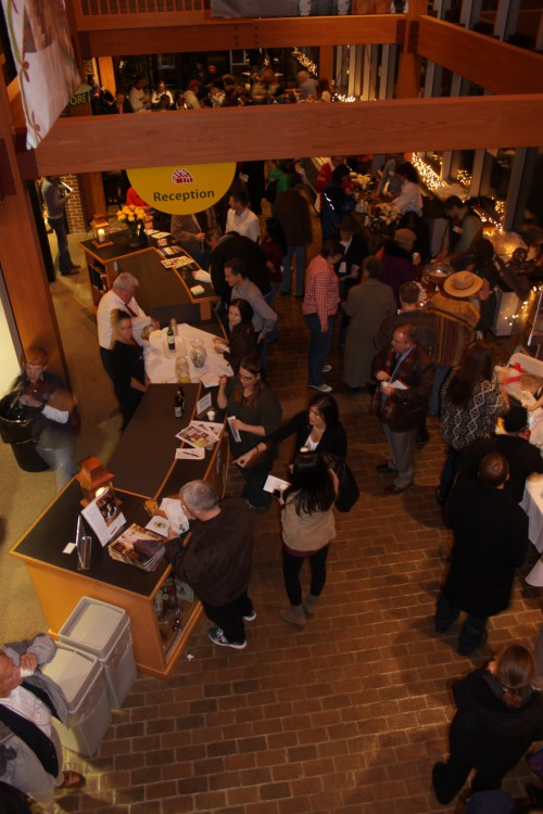 Overhead view of the gorgeous atrium at Historic Arkansas, during a previous Nog Off